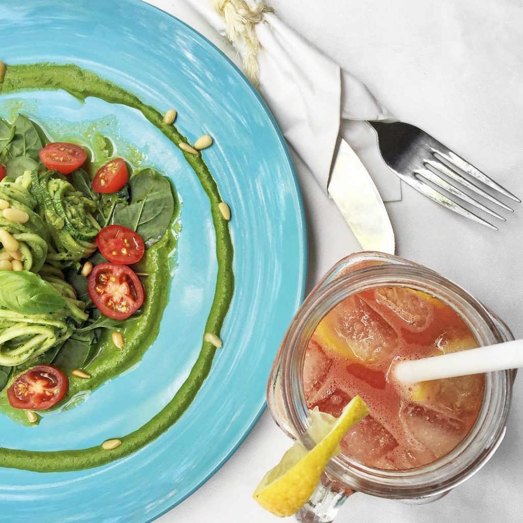 Rawfood galore! The zoodles zucchini noodles watermelon juice and fiercelyhellip
